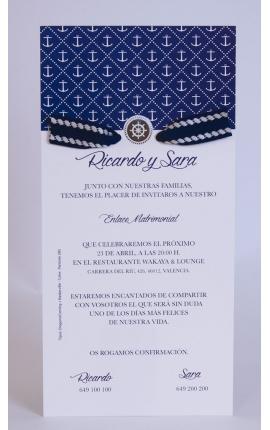 Tarjeta de Boda Edima 100725