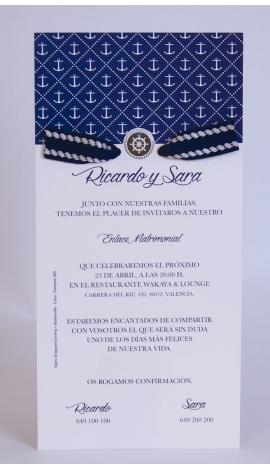 INVITACIÓN DE BODA EDIMA 100.725