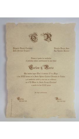 Tarjeta de Boda Edima 100045