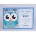 Pack 20 unid. invitación de Nacimiento + sobre azul DIY Edima 170655
