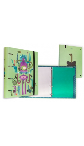 CARPETA 4 ANILLAS CON GOMAS NATURE