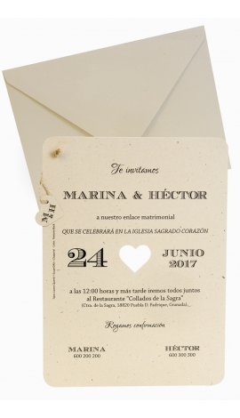 INVITACIÓN DE BODA EDIMA 100.720