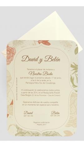 Tarjeta de Boda Edima 100703