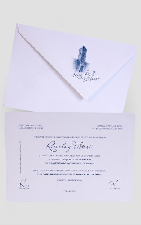 INVITACIÓN DE BODA EDIMA 100.548