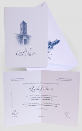 Tarjeta de Boda Edima 100549
