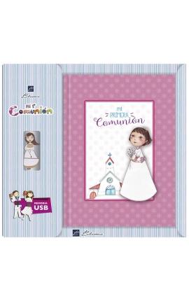 Libro de Firmas Comunión + Memoria USB 16GB Edima U500844