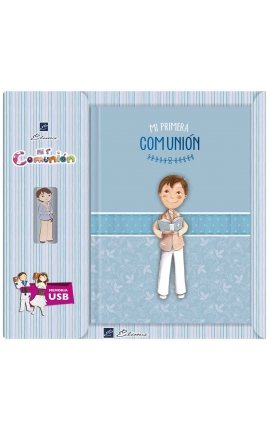 Libro de Firmas Comunión + Memoria USB 16GB Edima U500845