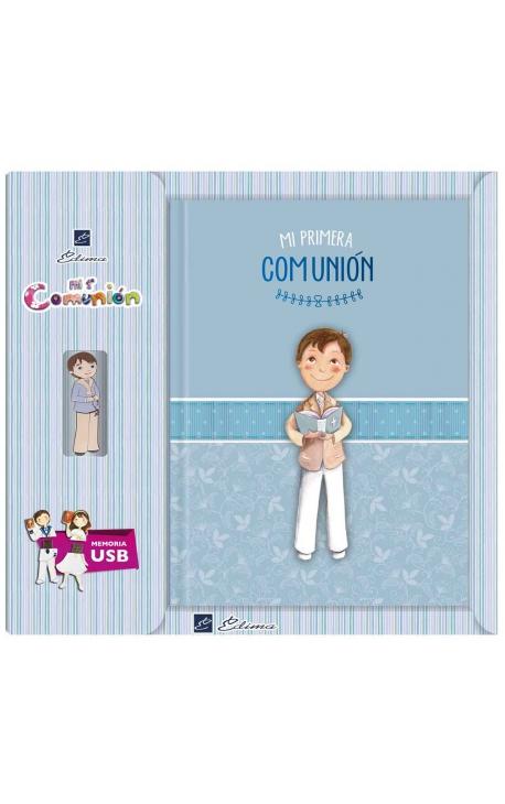 Libro de Firmas Comunión + Memoria USB 8GB Edima U500845