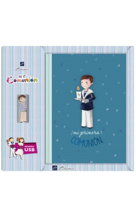 Libro de Firmas Comunión + Memoria USB 16GB Edima U500847