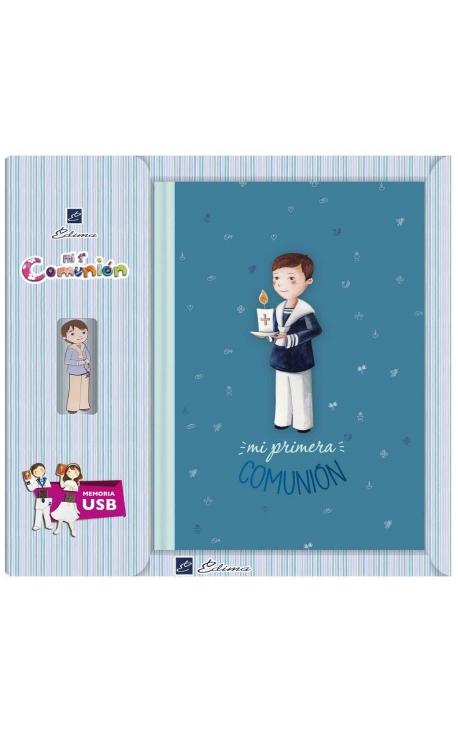 Libro de Firmas Comunión + Memoria USB 8GB Edima U500847