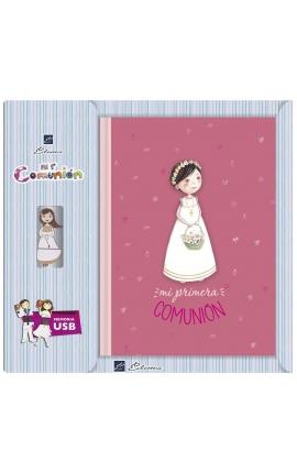 Libro de Firmas Comunión + Memoria USB 16GB Edima U500848