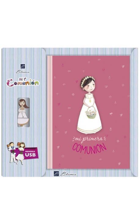 Libro de Firmas Comunión + Memoria USB 8GB Edima U500848
