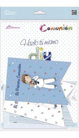 Pack 12 Banderines + 1 Banderín Personalizable Edima 465907-B