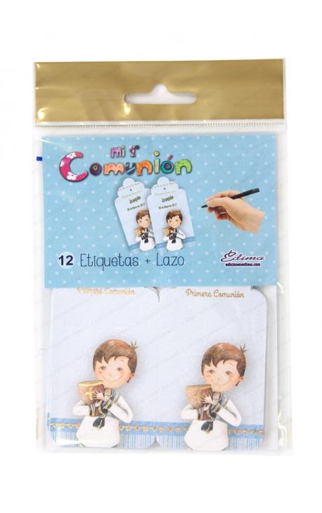 Pack 12 Etiquetas de Obsequio + Lazo Edima 410721-B