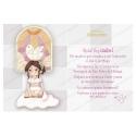 Pack 20 Invitaciones Comunión + Sobre Rosa Edima 413858-B
