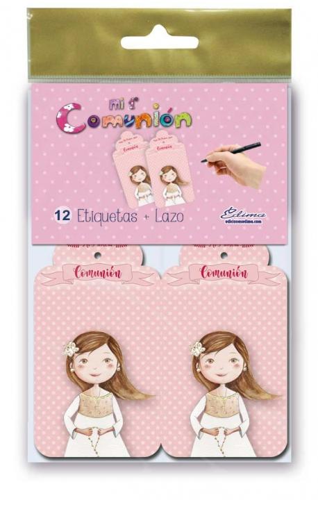 Pack 12 Etiquetas de Obsequio + Lazo Edima 410842-B