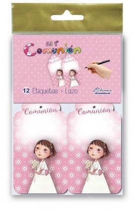 Pack 12 Etiquetas de Obsequio + Lazo Edima 410844-B