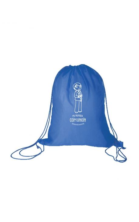 Mochila Azul niño Primera Comunión Edima 660111