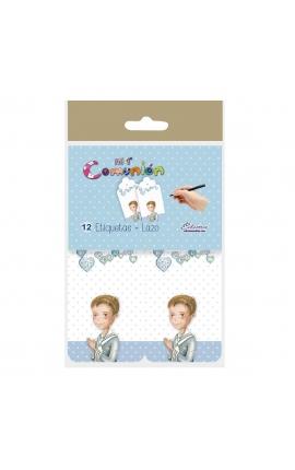 Pack 12 Etiquetas de Obsequio + Lazo Edima 410981-B