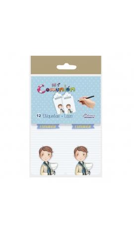 Pack 12 Etiquetas de Obsequio + Lazo Edima 410985-B
