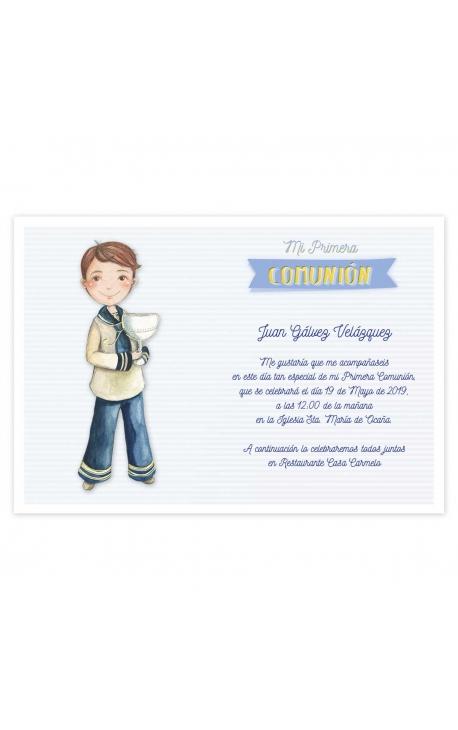 Pack 20 Invitaciones Comunión + Sobre Rosa Edima 413985-B