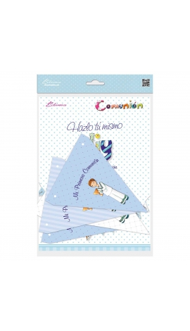 Pack 12 Banderines + 1 Banderín Personalizable Edima 465901-B
