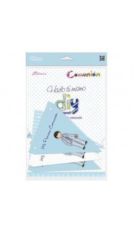 Pack 12 Banderines + 1 Banderín Personalizable Edima 465903-B