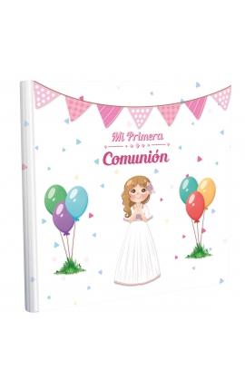 Libro de Comunión cuadrado con Estuche Lujo Edima 500974