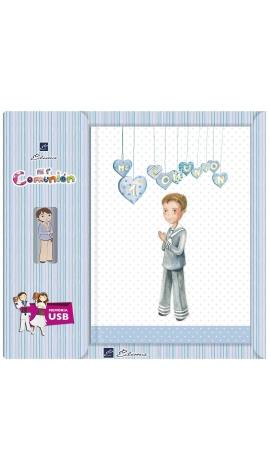 Libro de Firmas Comunión + Memoria USB 16GB Edima U500981