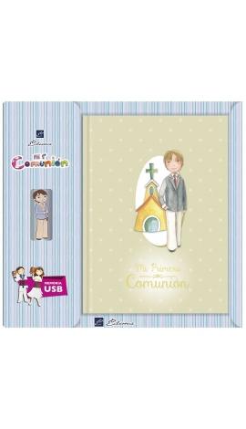 Libro de Firmas Comunión + Memoria USB 16GB Edima U500983