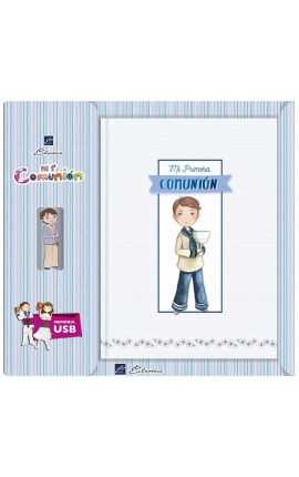 Libro de Firmas Comunión + Memoria USB 16GB Edima U500985