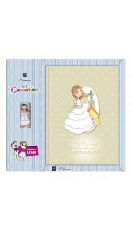 Libro de Firmas Comunión + Memoria USB 16GB Edima U500984