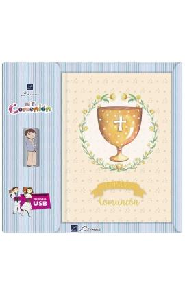 Libro de Firmas Comunión + Memoria USB 16GB Edima U500989