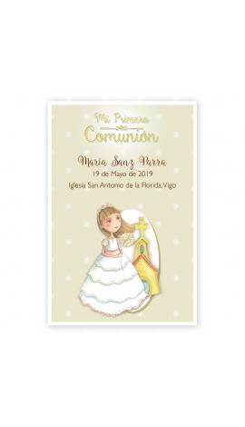 Pack 20 Recordatorios+Imanes+Etiquetas Comunión Edima 400984-B