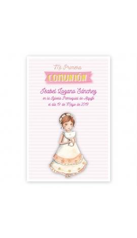 Pack 20 Recordatorios+Imanes+Etiquetas Comunión Edima 400986-B