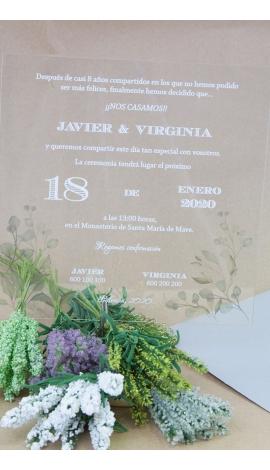 """Tarjeta de Boda """"Virginia"""""""