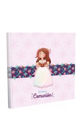 Libro de Comunión cuadrado con Estuche Lujo Edima 500032
