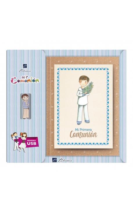 Libro de Firmas Comunión + Memoria USB 16GB Edima U500021