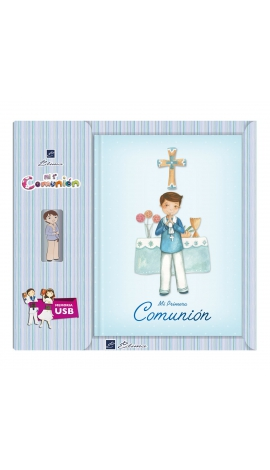 Libro de Firmas Comunión + Memoria USB 16GB Edima U500025