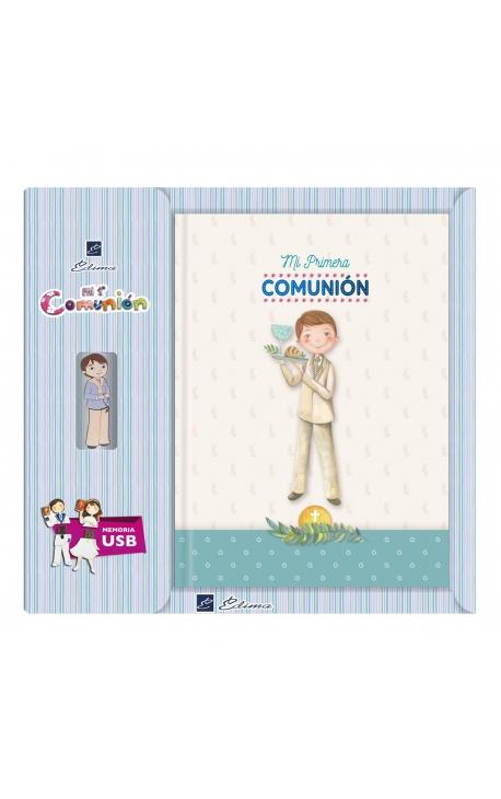 Libro de Firmas Comunión + Memoria USB 16GB Edima U500027