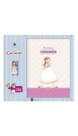 Libro de Firmas Comunión + Memoria USB 16GB Edima U500028