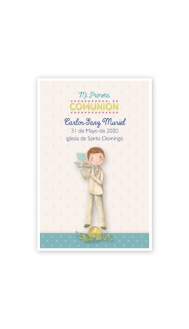 Pack 20 Recordatorios+Imanes+Etiquetas Comunión Edima 400027-B