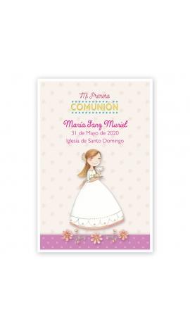 Pack 20 Recordatorios+Imanes+Etiquetas Comunión Edima 400028-B