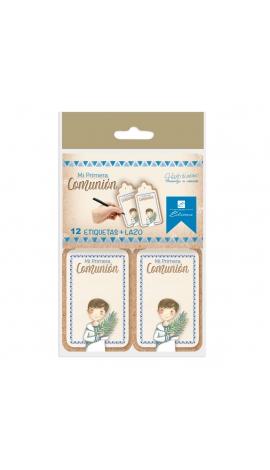 Pack 12 Etiquetas de Obsequio + Lazo Edima 410021-B