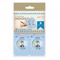 Pack 12 Etiquetas de Obsequio + Lazo Edima 410023-B