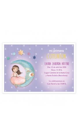 Pack 20 Invitaciones Comunión + Sobre Rosa Edima 413024-B