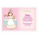 Pack 20 Invitaciones Comunión + Sobre Rosa Edima 413026-B