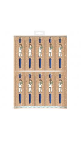 Pack 10 Bolígrafos + Funda Edima 460021-B